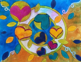 """Spread LOve"", 14x18, $299"